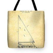 Sailboat Patent From 1991- Vintage Tote Bag