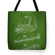 Sailboat Patent From 1996 - Green Tote Bag