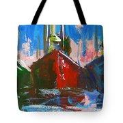 Sailboat Tote Bag by Patricia Awapara