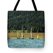 Sailboat Regatta Cascade Lake Tote Bag