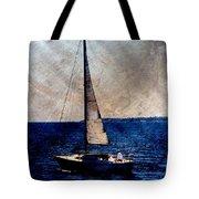 Sailboat Slow W Metal Tote Bag