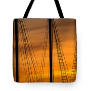 Sailboat Sunrise Tote Bag