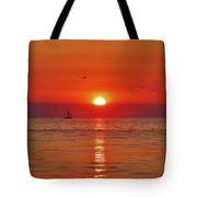 Sailboat Sunset Pamlico Sound 3 10/2 Tote Bag
