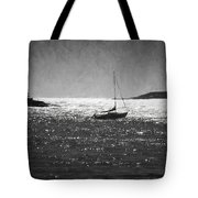 Sailboat And Islands In Maine Tote Bag