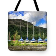 Sailboats At Glenridding In The Lake District Tote Bag