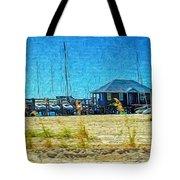 Sailboats Boat Harbor - Quiet Day At The Harbor Tote Bag