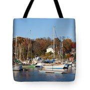 Sailboats In Camden Harbor I Tote Bag