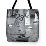 Sailboats On The Charles River II Tote Bag by Clarence Holmes