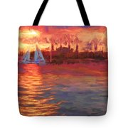 Sailboatsunset Tote Bag