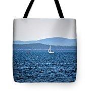 Sailing Amidst The Buoys Tote Bag