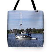 Sailing At Ballard Park On The Eau Gallie River In Melbourne Flo Tote Bag