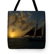 Sailing At Dusk Tote Bag