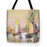 Sailing Boats At Les Sables D Olonne  Tote Bag
