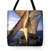 Sailing Boats Kruzenshtern Tote Bag by Anonymous