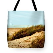 Sailing By Sand Dune Tote Bag