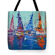 Sailing By The Lighthouse Tote Bag