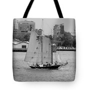 Sailing Free In Black And White Tote Bag