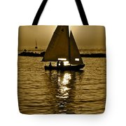 Sailing In Sepia Tote Bag
