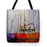 Sailing In The Mist Tote Bag by Vickie Warner