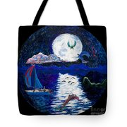 Sailing In The Moonlight Tote Bag