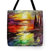 Sailing In The Sunset Tote Bag