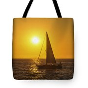 Sailing Into The Sunset Tote Bag by Aged Pixel