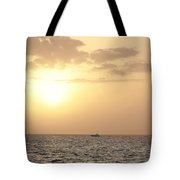 Sailing Into The Sunset Tote Bag