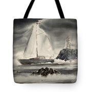 Sailing On A Grey Day Tote Bag