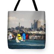 Sailing On The Bay Tote Bag