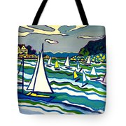Sailing School Manchester By-the-sea Tote Bag