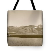 Sailing Ship In The Adriatic Islands In Sepia Tote Bag