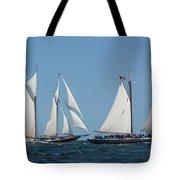 Sailing Ship In The Ocean At Gloucester Tote Bag