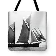 Sailing Ship Ketch, 1876 Tote Bag