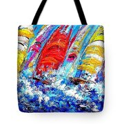 Sailing Ships In The Wind Tote Bag