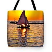 Sailing Silhouette Tote Bag