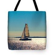 Sailing The Ocean Blue Tote Bag