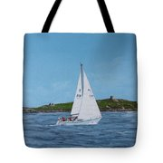 Sailing Through Dalkey Sound Tote Bag
