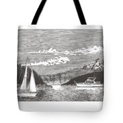Sailing Mount Hood Oregon Tote Bag