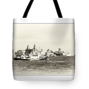 Sailing Up The Mersey Tote Bag