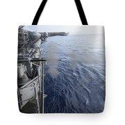 Sailors Fire A 25mm Machine Gun Aboard Tote Bag