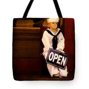 Sailors Welcome Cropped Tote Bag