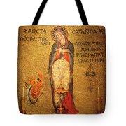 Saint Catherine Of Alexandria Altar Tote Bag