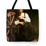 Saint Catherine Of Alexandria Tote Bag by Caravaggio