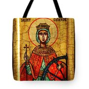 Saint Catherine Of Alexandria Icon Tote Bag