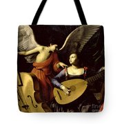 Saint Cecilia And The Angel Tote Bag