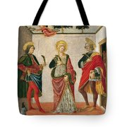 Saint Cecilia Between Saint Valerian And Saint Tiburtius With A Donor Tote Bag