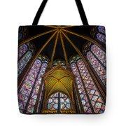Saint Chapelle Windows Tote Bag