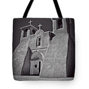 Saint Francis In Black And White Tote Bag