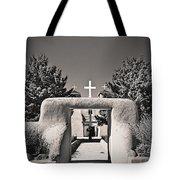 Saint Francis In Sepia Gold Tote Bag