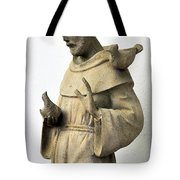Saint Francis Of Assisi Statue With Birds Tote Bag
